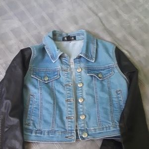 Forever 21 leather/Jean jacket